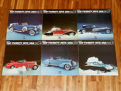 Top Twenty Hits USA - SAMMLUNG - 6 LPs - 1942-1949 - CAR COVERS - Duesenberg