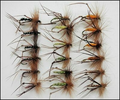 Hopper Trout Flies, 18 Pack Mixed Colours, Size 10/12/14, For Fly Fishing