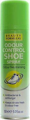 Beauty Formulas Odour Control Foot~Shoe Sprays 150ml Protecting Neutralising