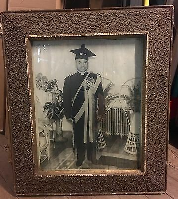 Rare Early African American Fraternal Organization Portrait Photograph
