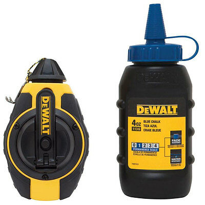 DeWalt 100' Chalk Reel + Blue Chalk DWHT47373L New
