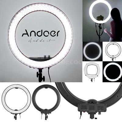"18"" LED Photography Diva Ring Light Dimmable 5500K Lighting Photo Video Lamp US"