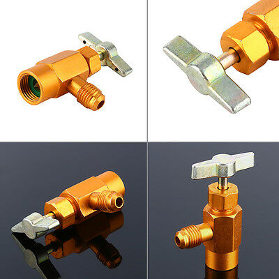 """Can Dispensing For R-134a R-134 AC Refrigerant Tap 1/2"""" Acme Thread Valve Tool"""