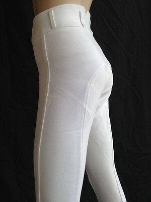 Ladies White Breeches, White Competition Jodhpurs, Full Seat Suede. Sizes 8-18