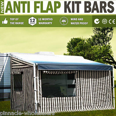 NEW Anti Flap Kit Bars For Caravan Motorhome RV Roll-out Awning Dometic Carefree