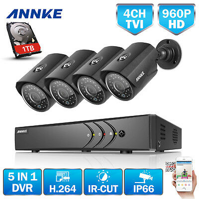 ANNKE 960P Metal Security Camera System 2500TVL 8CH 1080P Lite DVR 5IN1 CCTV 1TB