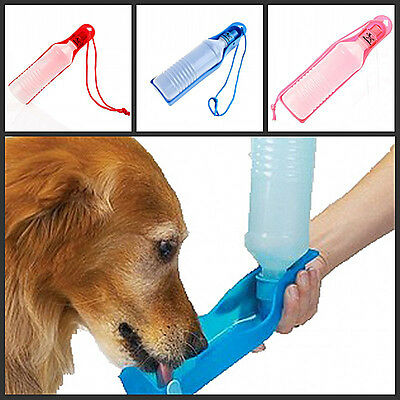 250ml Bouteille d'EAU distributeur animal  Feeders Bottle Bowl Dispenser Voyage