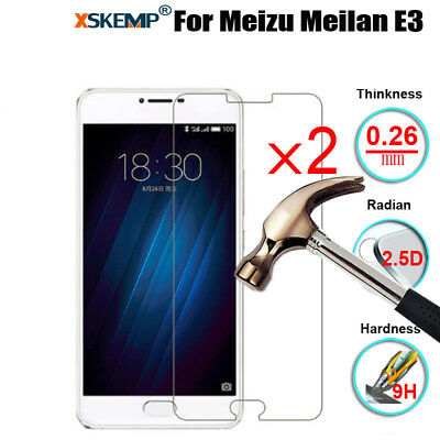 2Pcs 9H Real Premium Tempered Glass Screen Protector Film For Meizu MeiLan Phone