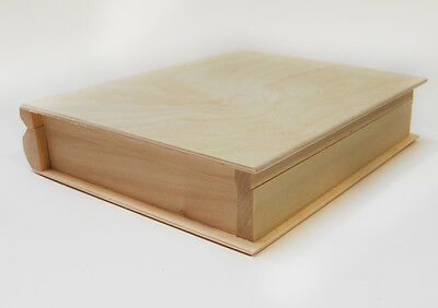 Plain New Wooden Box  Bookcase Container Pine Unpainted Diary Case Decorate Wood