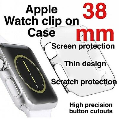 Apple Watch 38mm Clip On Case Screen Protector