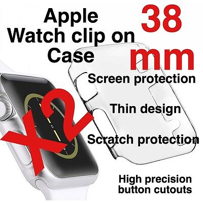 X2 Apple Watch 38mm Clip On Case Screen Protector
