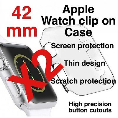 X2 Apple Watch 42mm Clip On Case Screen Protector