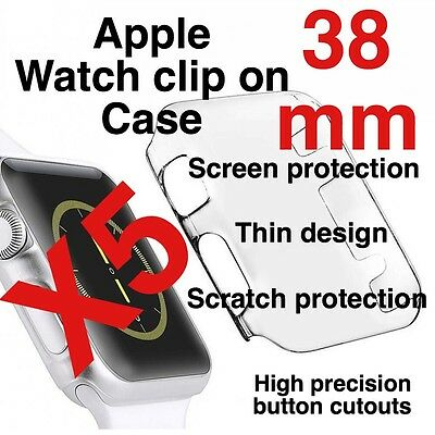 X5 Apple Watch 38mm Clip On Case Screen Protector