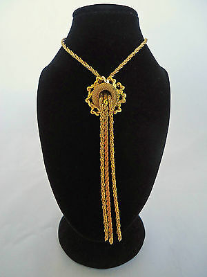 "Vintage 1970's  Gold Tone ""Love Knot"" Necklace"