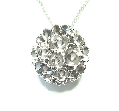 """Liisa Vitali Finland - Beautiful Sterling Silver Pendant with Chain """"Spring"""""""