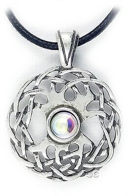 Celtic Irish Pendant Necklace Sexuality Knot Silver w Adjustable Cord