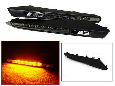 Smoked Led Side Repeaters & Black Wing Grill For Bmw E90 E92 E93 3 Series M3 V3