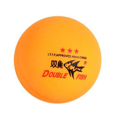 3 Pcs Double Fish ITTF Approved 3-Stars Table Tennis DM