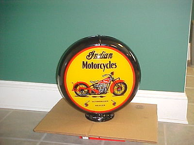 Indian Motorcycle Gas Pump Globe