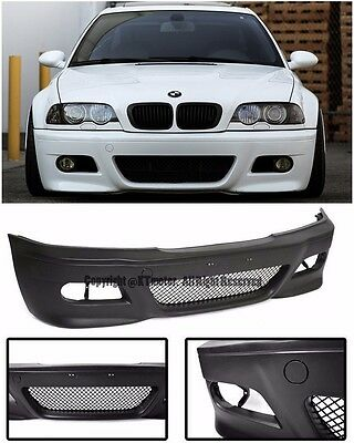 For 99-05 BMW E46 3-Series Coupe 2Dr M3 Style Front Conversion Bumper Cover P.P.