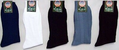 Mens Nylon Dress Socks - Asstd Colors  12 Pairs Lot  (Hs920N ^)