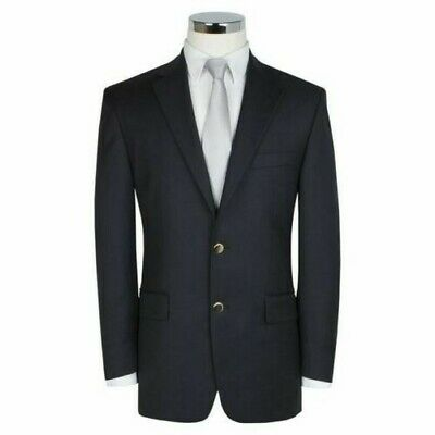 Scott Pure Wool Navy Blue Blazer Jacket