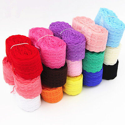 Wholesale Net Lace Trim Ribbon DIY Sewing Dress 10 Yards Decor Embroidered
