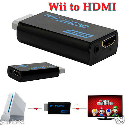 Wii to HDMI Wii2HDMI Full HD FHD 1080P Converter Adapter 3.5mm Jack Audio Output