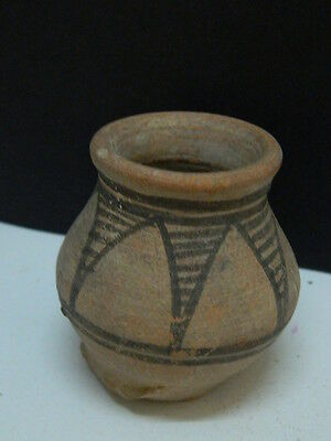 "Indus Valley Teracotta Painted Pot C.2500 Bc  """"t15267"""""