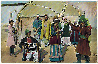 Kirgizes at Yurta, Russian Central Asia, 1910s