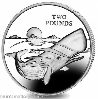 BRITISH ANTARCTIC TERRITORY 2 Pounds 2016 BU 165th Anniversary of Moby Dick