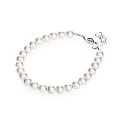 White bracelet with Swarovski pearls