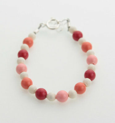 Multi Color Pink Coral Pearls Bracelet