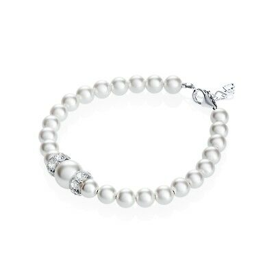 Baby and Child Bracelet with White Swarovski Pearls and Rondelles