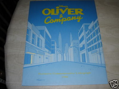 disney's oliver & company lithograph