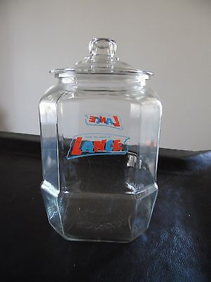 Vintage House Lance Old Store Glass Counter Jar Cookie Crackers Snacks Original
