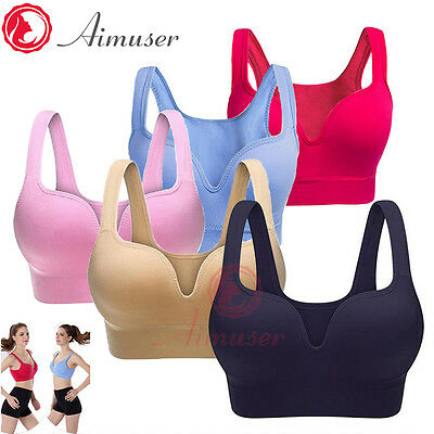 Women Ladies Sports Bras Push Up Gym Fitness Top Stretch Yoga Bra Vogue Running