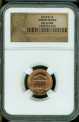 2010-D Lincoln Cent Ngc Ms66 Red