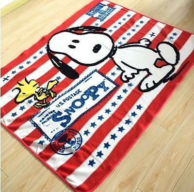 """Snoopy Peanuts Super Cute Supersoft Plush Bedroom Blanket Throw Cover 59""""x78"""""""