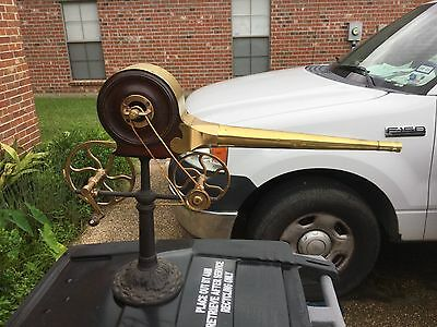 antique hand crank fireplace bellows mahogany brass easy project, a few screws