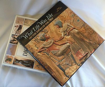 Lot of 2 Ancient Egypt Books - Excellent Condition - Dictionary & What Life ...