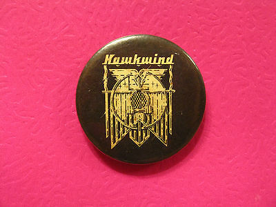 Vintage Hawkwind Button Badge Pin Uk Made