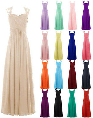 New Long Chiffon Formal Bridesmaid Dresses Evening Wedding Ball Party Prom Gown