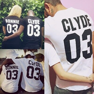 T Shirt Bonnie And Clyde Short-Sleeved Couple Clothes Valentine Day Gift Tee