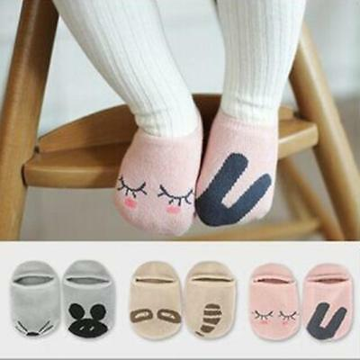 Cute Baby Infant Toddler Kids Asymmetric Cute Printed Soft Short Cotton Socks G