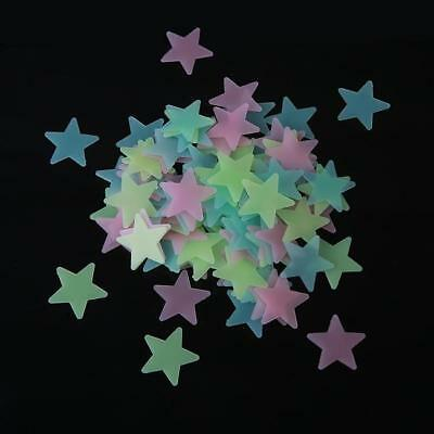 100x Wall Stickers Removable Decor Glow In The Dark Star Baby Kids Room Decals G