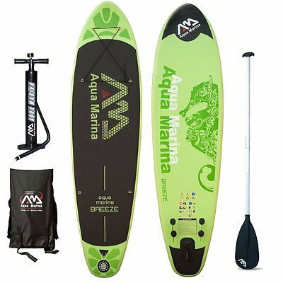 AQUA MARINA Breeze SUP inflatable Stand Up Paddle Surfboard Board Paddel