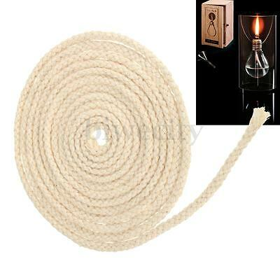 10FT 3m Diameter 3/16'' Round Cotton Wick Burner For Alcohol Kerosene Oil Lamp