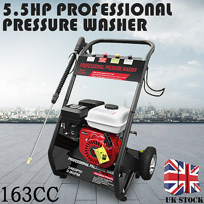 2200PSI 5.5HP Petrol Gas Power Pressure Jet Washer Engine With Gun Hose New