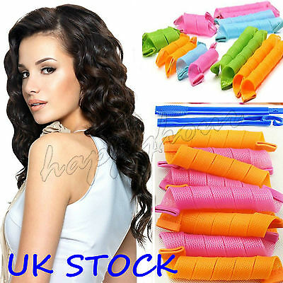 18PCS DIY MIX Hair Curlers Rollers Small Magic Circle Twist Spiral Styling Tool